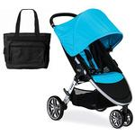 Britax B-Agile 3 Stroller with Diaper Bag  - Cyan