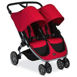 Britax B-Agile Double Stroller with Diaper Bag - Red