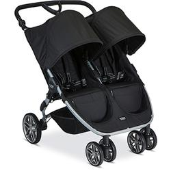 Britax B-Agile Double Stroller with Diaper Bag - Black