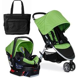 Britax B-Safe 35 Elite Travel System with Diaper Bag - Meadow