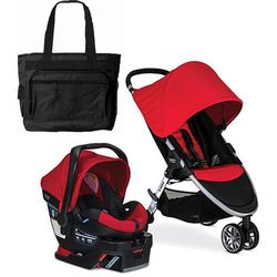Britax B-Agile 3 / B-Safe 35 Travel System with Diaper Bag - Red