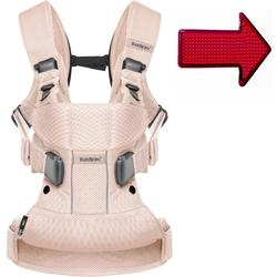 Baby Bjorn 093012US Baby Carrier One Air with FREE Safety Reflector - Powder Pink Mesh