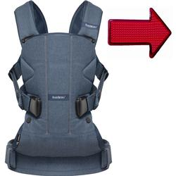 Baby Bjorn 093051US Baby Carrier One Classic  with FREE Safety Reflector - Denim/Midnight Blue