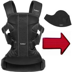 Baby Bjorn 693002US Baby Carrier One Air Mesh with Bib and FREE Safety Reflector - Black