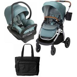 Maxi-Cosi Adorra Stroller Mico Max 30 Infant Car Seat Travel System - Nomad Green with BONUS Diaper Bag