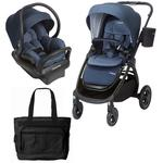 Maxi-Cosi Adorra Stroller Mico Max 30 Infant Car Seat Travel System - Nomad Blue with BONUS Diaper Bag