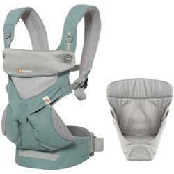 Ergo Baby 4 Position 360 Cool Mesh Carrier with Easy Snug Insert - Icy Mint / Grey
