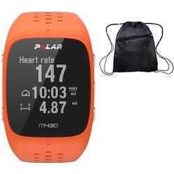 Polar M430 Wrist-Based Heart Rate GPS Running Watch Orange with Cinch Bag