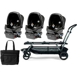 Peg Perego Triplette Piroet Stroller With Primo Viaggio 4 35 Infant Car Seats And Diaper