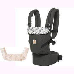 Ergo Baby 3 Position Adapt Baby Carrier - Graphic Grey with Teething Pad and Bib