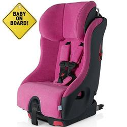 Foonf  by Clek -  Car Seat with Baby On Board Sign - Flamingo
