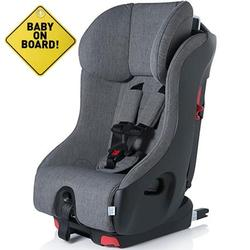 Foonf  by Clek -  Car Seat with Baby On Board Sign - Thunder