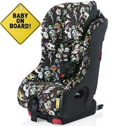 Foonf  by Clek -  Car Seat with Baby On Board Sign - Tokidoki Space