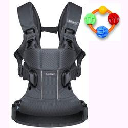 Baby Bjorn Baby Carrier One Air - Anthracite with Click Clack Balls Teether