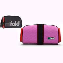 mifold Grab-and-Go Car Booster Seat - Perfect Pink w/ Designer Carry Bag