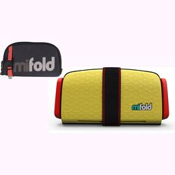 mifold Grab-and-Go Car Booster Seat - Taxi Yellow w/ Designer Carry Bag