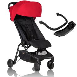 Mountain Buggy Nano 2 Stroller - Ruby with Nano Grab Bar and Food Tray