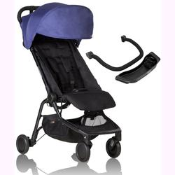 Mountain Buggy Nano 2 Stroller - Nautical with Nano Grab Bar and Food Tray