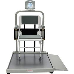 Health O Meter 2500CKL Digital Wheelchair Scale with Fold Away Seat 1000 lb x 0.2 lb
