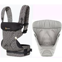 Ergo Baby 4 Position 360 Keith Haring Limited Edition Carrier with Easy Snug Insert - Black/Grey