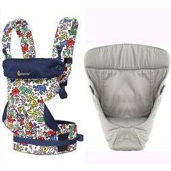 Ergo Baby 4 Position 360 Keith Haring Limited Edition Carrier with Easy Snug Insert - Color Pop/Grey