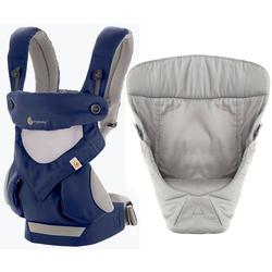 Ergo Baby 4 Position 360 Cool Air Mesh Carrier with Easy Snug Insert - French Blue / Grey