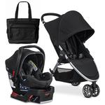 Britax 2017 B-Agile 3/B-Safe 35 Elite Travel System with Diaper Bag  - Domino