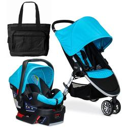 Britax 2017 B-Agile 3 / B-Safe 35 Travel System with Diaper Bag - Cyan