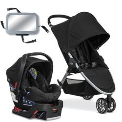 Britax B-Agile 3 / B-Safe 35 Travel System with Back Seat Mirror - Black