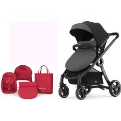 Chicco Urban 6 In 1 Modular Stroller - Manhattan with Red Color Pack