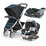Chicco Bravo Stroller Trio System - Lake with with Bonus Car Seat Base - Anthracite