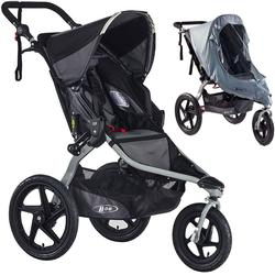 BOB Revolution FLEX Stroller - Black/Black with Weather Shield