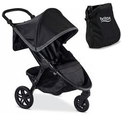 Britax B-Free Infant Baby Stroller - Pewter with Diaper Bag