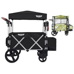 Keenz Original 7S Stroller Wagon - Black with Rain Cover