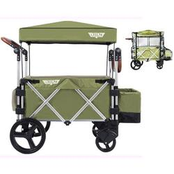 Keenz Original 7S Stroller Wagon - Green with Rain Cover