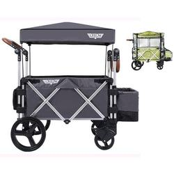 Keenz Original 7S Stroller Wagon - Grey with Rain Cover