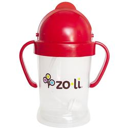 Zo-li BF17PPRD01 BOT 6 oz Straw Sippy Cup - RED