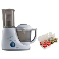 Beaba Babycook Original Plus 6 in 1 Steam Cooker, Blender, and Bottle Warmer - Peacock with BONUS 2oz/70 ml Baby Cubes