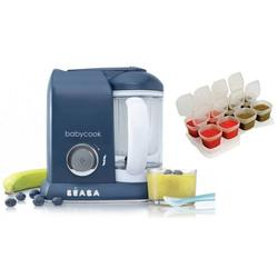 Beaba Babycook 4 in 1 Steam Cooker and Blender - Navy with BONUS 2oz/70 ml Baby Cubes