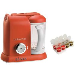 Beaba Babycook 4 in 1 Steam Cooker and Blender - Paprika with BONUS 2oz/70 ml Baby Cubes