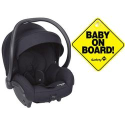 Maxi-Cosi Mico 30 Infant Car Seat - Night Black with Bonus Baby on Board Sign