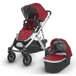 UPPAbaby 0318-VIS-US-DNY VISTA Stroller - Denny (Red/Silver/Leather)