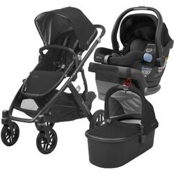 UPPABaby VISTA Stroller and MESA Car Seat Travel System - Jake (Black/Carbon/Leather)