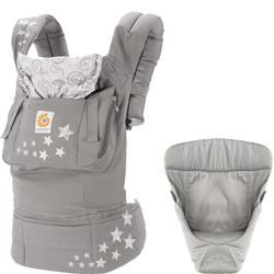 8dda2be9994 Ergo Baby Original Joy Baby Carrier - Galaxy Grey with Easy Snug Infant  Insert Grey