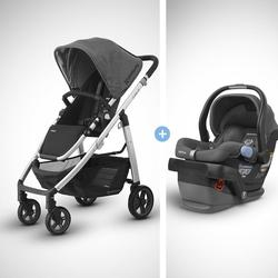 UPPABaby CRUZ Infant Baby Stroller With MESA Wool Version Car Seat Travel System