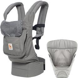 35e005418e1 Ergo Baby Original Joy Baby Carrier - Steel Plaid with Easy Snug Infant  Insert Grey