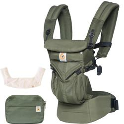 Ergo Baby Omni 360 Cool Air Mesh Ergonomic Baby Carrier with Teething Pad Bib - Khaki Green