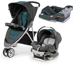 Chicco Viaro Stroller Travel System with Extra Ketyfit 30 Base - Verdant/Anthracite