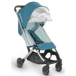 UPPABaby MINU 0818-MIN-US-RYN Lightweight Infant Baby Stroller - Ryan (Teal/Silver/Leather)