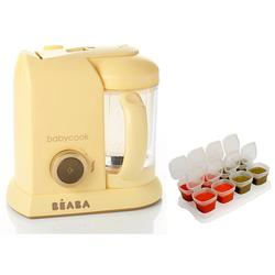 Beaba Babycook Macaron Collection 4 in 1 Steam Cooker and Blender- Lemon with BONUS 2oz/70 ml Baby Cubes